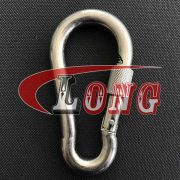China Carbine Snap Hook with Safety Screw
