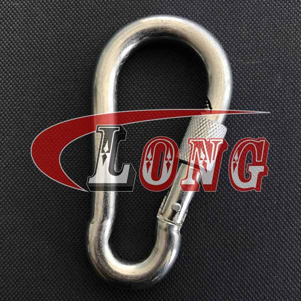 China Carbine Snap Hook with Safety Screw Supply