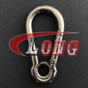 China Stainless steel Carbine snap Hook with Eyelet