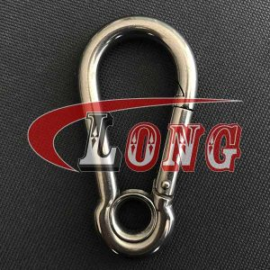 Stainless steel snap Hook with Eyelet DIN5299-China LG™