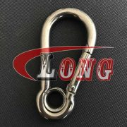 China Stainless steel Carbine snap Hook with Eyelet Supply