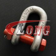 China high tensile chain shackle, commercial type chain shackle