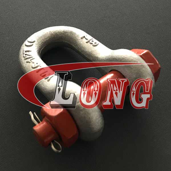 Dee shackle with safety bolt and nut, Bolt Type D shackle G2150