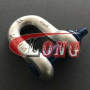 Galvanized Screw Pin chain shackles G210, Screw Pin D Shackle