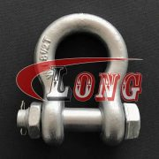 Safety Bolt Anchor Shackles Galvanized, Bolt Type bow shackles