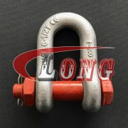 Safety bolt D Shackle, Bolt Type chain shackle