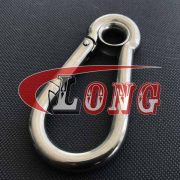 Stainless steel Carbine snap Hook with Eyelet