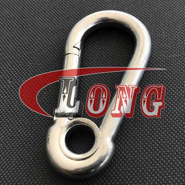 Zinc plated Carbine Snap Hook with Eyelet