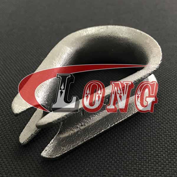 Light Duty Zinc plated Thimbles China, Light Duty Galvanized Wire Rope Thimbles