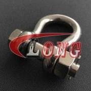 China Stainless Steel Bolt Type Anchor Shackle manufactures
