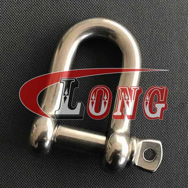 China Stainless Steel D Shackle with Screw pin Supply