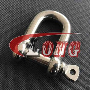 Stainless Steel Screw Pin D Shackle JIS Type-China LG Supply