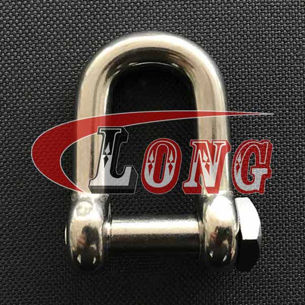 China Stainless Steel Square Head Dee Shackle