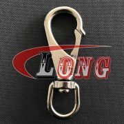 Large Swivel Eye Snap Hook Stainless Steel