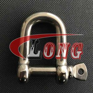 Stainless Steel D Shackle with Screw pin European Type
