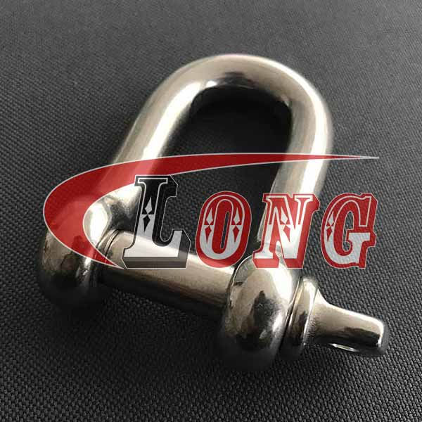 Stainless Steel D Shackle with Screw pin is