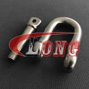 Stainless Steel D Shackle with Screw pin,European Type
