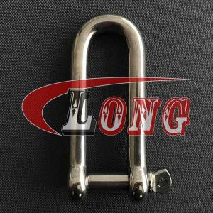 Stainless Steel Long D Shackle with Screw Pin-China LG™