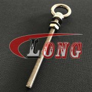 Stainless Steel Long Shank Eye Bolt with Washer and Nut