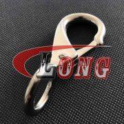 Stainless Steel Swivel Eye Boat Snap Hook (2)