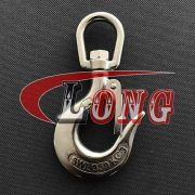 Stainless Steel Swivel Hook with Safety Catch (2)