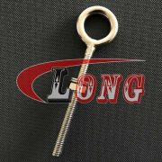 M12*120 Stainless Steel Lifting Eye Bolts with Washer and Nut Long Shank Nut