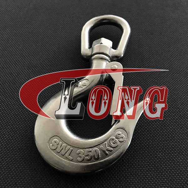 tainless Steel Swivel Hook with Latch