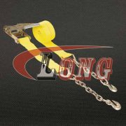 China 4″ Ratchet Strap w Chain Extensions