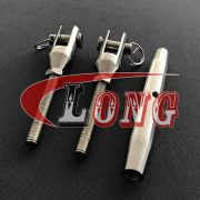 Closed Body Turnbuckle with Threaded Fork End Fittings in 316 Grade Stainless Steel