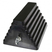 Rubber Double-Sided Wheel Chock with Eye Bolt