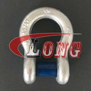 China LG Trawling Bow Shackle Square Sunken Hole