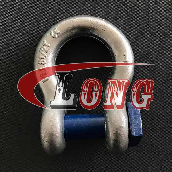 High Tensile Trawling Bow Shackle Square Head Pin