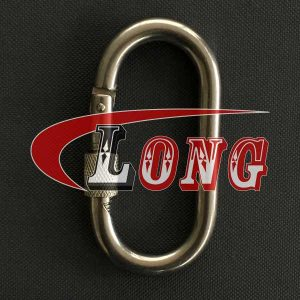 Oval Snap Hook with Screw Nut Stainless Steel-China LG™