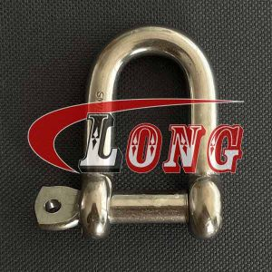 Stainless Steel D Shackle Captive Pin-China LG Supply